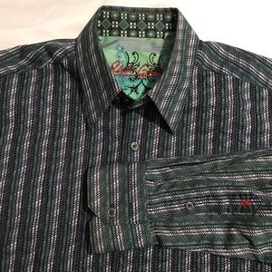 Robert Graham Flip Cuff Long Sleeve Large Shirt